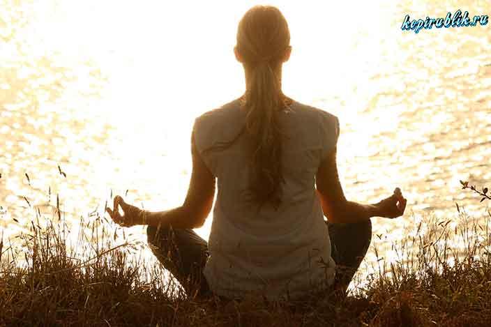 девушка, йога, медитация