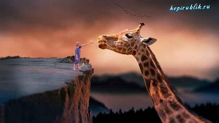 мальчик и жираф в параллельной вселенной